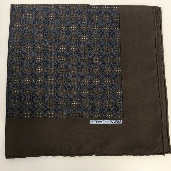 Hermes Other - ❤️SOLD❤️ Hermes Silk Pocket Square Handkerchief